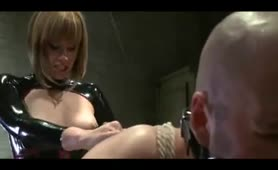 Femdom Screaming Strap-on